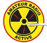 Amateur Radio Active 4 Inch WINDOW Decal Free Domestic S&H