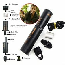 New 10-in-1 Survival Tool Camping Hiking Emergency Compass Flint Fire Starter