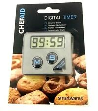 CHEF AID COUNTDOWN TIMER LARGE DISPLAY - KITCHEN OVEN BAKING COOKING & CATERING.