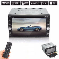 6.2 2DIN HD Bluetooth Touch Screen Auto Stereo Radio DVD CD MP5 Kassetten AUX