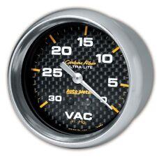 """Auto Meter 4884 2-5/8"""" Vacuum Gauge 0-30 In Hg Carbon Fiber"""
