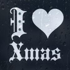 I Love Christmas Heart Car Decal Vinyl Sticker For Window Panel Bumper