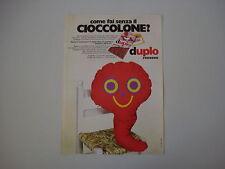 advertising Pubblicità 1971 DUPLO FERRERO