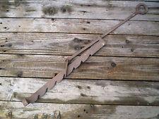 Crémaillère à cran normande en fer forgé ancienne,cheminée/feu/âtre/foyer