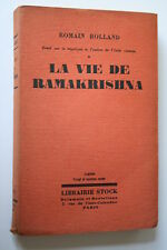 LA VIE DE RAMAKRISHNA par ROMAIN ROLLAND   éd. 1929  BON ETAT