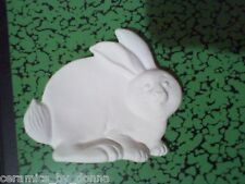 BUNNY TEABAG HOLDER CERAMIC U PAINT JEWELRY TRAY DISH SPOON REST hand made