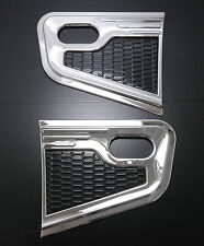 CHROME SIDE VENT INDICATOR SURROUNDS FOR NISSAN NAVARA D40 STX STR FRONTIER 06
