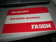 1981 Suzuki FA50 M Shuttle Owners Manual