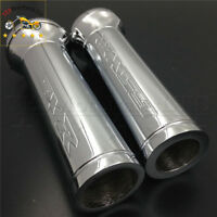 Custom 22mm Handlebar Grips For Suzuki Gsx-R 600 750 1000 Hayabusa Gsxr1300 Chro