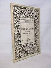 Capocci - Genio e mestiere. Shakespeare e la commedia dell'arte - Laterza 1950