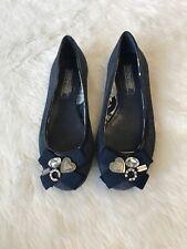 Coach Poppy Blue Denim Caper Charm Ballet Flats Shoes Size 7