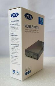 LaCie Mobile Drive 5TB External Hard Drive HDD USB-C USB 3.0 STHG5000402 Grey  c