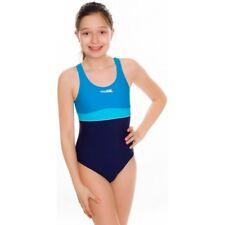 Mädchen einteiliger Badeanzug Schwimmanzug Emily Aqua-speed 152 blau