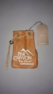 Leather Golf Valuables pouch