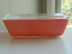 Vintage Pyrex Pink Refrigerator Casserole Ovenware Dish With Lid 1 1/2 QT 503
