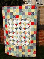 Handmade Corner Shop Single Bed Patchwork Bright Quilt Blanket