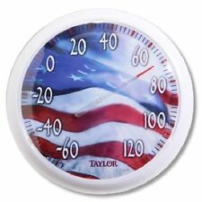 "Taylor 13-1/2"" Dial USA Flag Thermometer, Large"