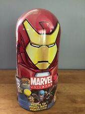 Marvel Mighty Beanz Iron Man Collector Tin Holder w/2 beans NEW Sealed