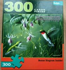 NEW A 300 LARGE PIECE JIGSAW PUZZLE BY BUFFALO GAMES - HUMMINGBIRDS AND FUSCHIA