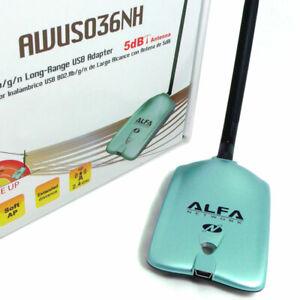 Alfa Network AWUS036NH Wireless N Wi-Fi USB Adapter Client 2000mW 4250605599799