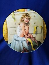 """8.5"""" Reco Knowles Plate """"Getting Dressed"""" by John McClelland 1985"""