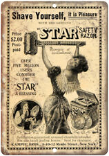 "Star Safety Razor Kampfe Bros Vintage Ad 10"" X 7"" Reproduction Metal Sign ZF135"