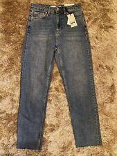 Bnwt Topshop Blue Straight Leg Jeans Size UK 8 W26 Fit L30 New.     /(4