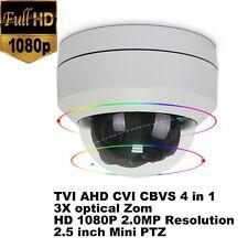 CCTV 2MP IR Mini PTZ Dome Camera 3x Optical Zoom  AHD/ TVI/ CVI/ CVBS UTC/ RS485