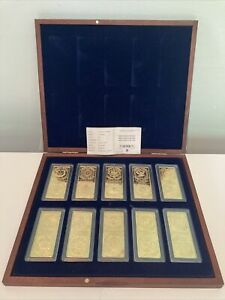 Windsor Mint Million Dollar Collection Proof Set 24K Gold Plate Bars RRP£399