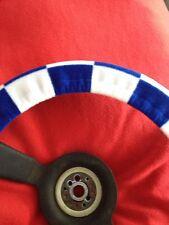 Blue & White Checker Board Steering Wheel Cover