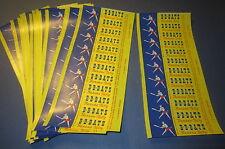 Lot of 60 Old Vintage 1950's - B B BATS Banana TAFFY Candy Wrappers - BASEBALL