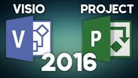 Microsoft Visio Professional& Project Professional 2016 Pack (1 PC each PACKAGE)
