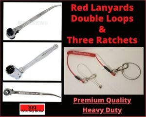 Scaffold Ratchet 1921 1721 1924 MM Spanner 716  & Tools 2 loops Safety Lanyard