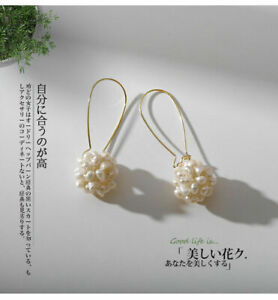 AAA+++ 2-3mm natural real south sea white baroque Pearl earrings silver(w)