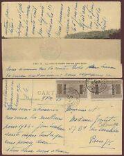 FRENCH SAHARA BOUGOUNI 1923 PPC CAMEL OVERPRINTS 2 x 5c