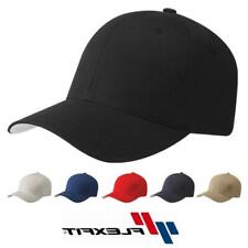 Flexfit Cotton Twill Baseball Cap Fitted Ballcap Plain Blank Hat 5001