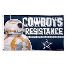DALLAS COWBOYS STAR WARS BB-8 COWBOYS RESISTANCE 3'X5' DELUXE FLAG NEW