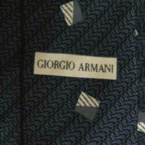 Gray Striped ARMANI Silk Tie