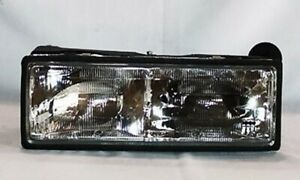 Left Side Replacement Headlight Assembly For 1987-1990 Chevrolet Caprice