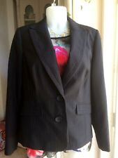 Ladies Autonomy Black Pin Stripe Smart Jacket NWT Size 14