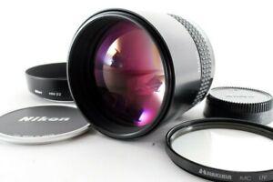 【MINT】 NIKON AIS AI-S NIKKOR 135mm F/2 Telephoto MF Lens w/HOOD caps From JAPAN