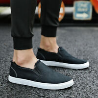 Men Canvas Shoes Flat Driving Loafers Boat Slip On Breathable Sneakers Hot Ths01
