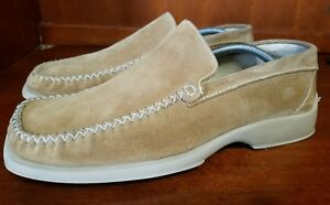 Skechers Collection Men Suede Casual Loafers Size 9.5 M **ITALY MADE