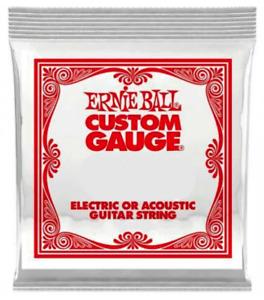 Ernie Ball Singles - Plain Steel Strings (Pack Of 5) Gauge: 0.15