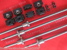 4 lead ball screw RM1605-1200/1200/800/400mm end machined +4 ballnut +4 BK/BF12