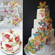 Birthday Cake Decoration Butterfly Wafer Cupcake Toppers Edible Rice Paper