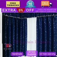 Blackout Blue Stars Kids Bedroom Curtains Fabric Sheer Drapes Eyelets Rod Pocket