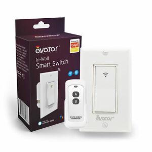 Avatar Controls Smart WiFi Light Switch Single Pole with RF Remote Alexa Google