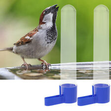 2Pcs Automatic Bird Feeder Water Drinking Container Parrot Budgie Water Feeding