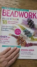 BEADWORK MAGAZINE (April-May 2010) Beading Crafting Jewelry Making Pre-Owned